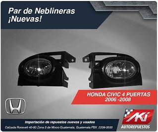 neblineras civic 4 puertas 2006-2008