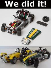 'nuff said :) (bricktrix) Tags: toys lego caterham legocar caterham7 caterhamseven legocaterham