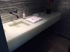(Haifa Limestone) Tags: white bathroom bathrooms counter sink backlit haifa sinks countertop seaglass countertops counters integratedsink completedjob completedjobs haifalimestone iphone6backcamera415mmf22