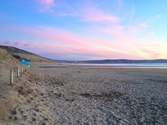 Woolacombe Beach (kernowrules) Tags: life camera uk blue sunset england beach north guard hut devon posts pars woolacombe martyn rnli iphone hss 500px ifttt
