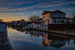 End of Day (Bob90901) Tags: longexposure newyork water canon evening canal spring outdoor filter lee nd april 6d endofday 2016 lindenhurst neutraldensity gradnd graduatedneutraldensity canonef2470mmf28liiusm leebigstopper rpg90901