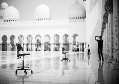 Mosque 5 (monochromia - jeremy chivers) Tags: march naturallight mosque abudhabi 2016 sheikhzayedmosque