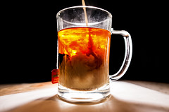 Storm in a cup of tea (_Bernie_) Tags: storm cup clouds milk tea flash twinings mug swirls mixing turbulence d610 sigma24mmf14dghsmart