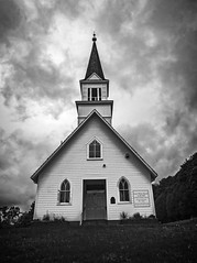 Little White Church on the Hill 2.jpg (Eye of G Photography) Tags: usa church places steeple northamerica washingtonstate stanwood skyclouds littlewhitechurchonahill