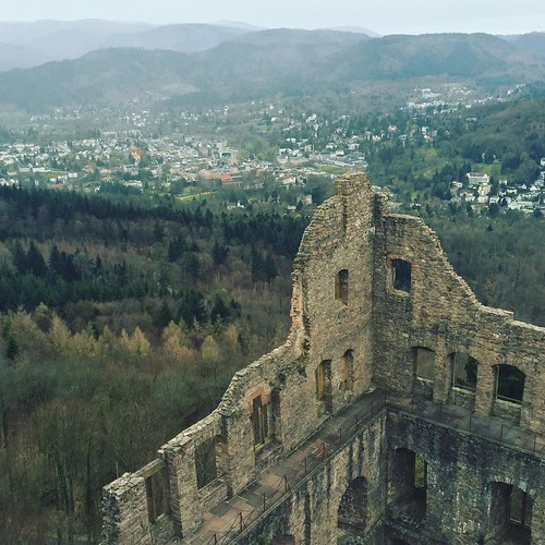 The Rhine valley is rich in these little treasures- ruined castles perched on mountain tops, buffeted by the elements. #alteschloss #badenwürttemberg #ruinedcastle #castleruins #castle #rhinevalley #eastermonday #forest #blackforest #germany