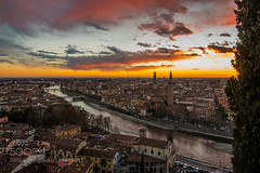 I love Verona (Justin S Reid) Tags: street city travel light sunset sky italy building love water beautiful architecture night clouds river nikon verona gurkan d600 500px wbpa gundogdu ifttt dierjscreensaver