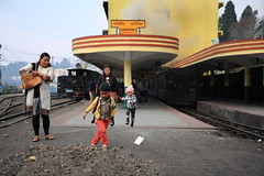 IMG_1691 (dr.subhadeep mondal's photography) Tags: people urban india color station canon children hill streetphotography railway darjeeling himalayan 1755