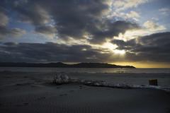 Serene (Flat-Sax Jones) Tags: morning sky sun beach water clouds oregon sunrise river nikon columbia astoria d610