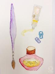 #watercolor (Mg Lin) Tags: watercolor