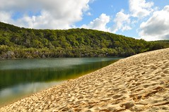Lake Wabby (juliecarmen.fahy) Tags: lake beach water forest landscape island sand australia queensland fraser oceania