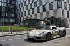 Porsche 918 Spyder (Marcinek_55) Tags: road trip ireland dublin car race square photography hotel team sony rally performance may wrap roadtrip spyder camo exotic porsche marker vehicle docklands 3000 supercar gumball supercars merrion sportcar 918 marcin a57 2016 gumball3000 sportcars gespot hypercar wojciechowski hypercars autogespot exoticsonroad betsafe marcinek55 supercarsindublin dublinsupercars dublintobukarest