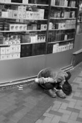 Bow (Job Homeless) Tags: blackandwhite hongkong streetphotography jordan f2 58mm helios44m monochorme streetsnap canon6d