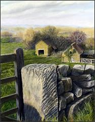 GRANITE GATEWAY (KING JOHN 1) Tags: sun stone gate farm low granite stonewall drystonewall barnes jak lowsun johnking farmgate