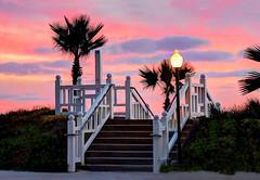 Stairs to Coronado Beach - San Diego, California (thinduck42) Tags: california sunset beach stairs pacific sandiego ngc panasonic coronado hoteldelcoronado fz200