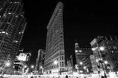 Majestic (ekidreki) Tags: street new york nyc longexposure blackandwhite bw usa white newyork black building architecture night lens photography prime us photo nikon long exposure angle wide streetphotography fast wideangle 20mm 20 nikkor ultra flatiron d610 ultrawideangle primelens 20mm18g