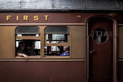 Trains of Yesteryear (dean.white) Tags: australia au newsouthwales nsw huntervalley maitland trainstation train carriage passengercar coach rail platform railway transport steamfest steamfest2016 canoneos6d canonef35mmf2isusm
