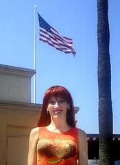 American girl. I'm proud to be ;) (Sofia Metal Queen) Tags: usa cute girl proud hair stars goldberg us sofia sweet stripes flag political patriotic pride cutie american patriotism oldglory