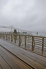 Subtend (El Justy) Tags: travel bridge usa fog oregon river landscape photography unitedstates outdoor foggy columbiariver pacificnorthwest riverfront pnw bridgetowashington