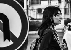 road and road sign (diomedes007) Tags: life road street city girl sign photography