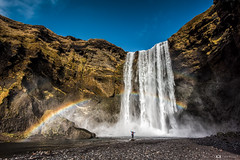 Under the Rainbow (Fabio tomat) Tags: sky nature water river landscape waterfall iceland spring rainbow nikon natura acqua skgafoss cascata islanda skgar leefilters skg nikon1424f28ed fabiotomat