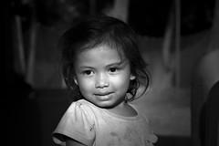 Cambodian Kid (fredMin) Tags: travel portrait white black monochrome children kid cambodia fuji fujifilm kampot xt1