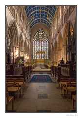 The East Window (Seven_Wishes) Tags: uk light sunlight building church sandstone cathedral interior religion arches stainedglass ceiling holy cumbria kc ornate alter carlisle pews newcastleupontyne tyneandwear carlislecathedral canonef24105mmf4lis photoborder kc16 theeastwindow canoneos5dmark3 newcastleupontynenortheast