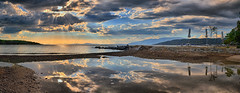 After the rain at Milina (Dimitil) Tags: sunset sea sky beach clouds reflections hellas greece rays milina pelionthessaly