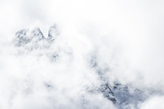 white thick clouds (mariola aga) Tags: winter white abstract mountains alps nature monochrome clouds spring invisible 365 thick dolomites visibility thegalaxy