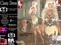 Classy Dress beige (mysticdreams0607) Tags: eve texture evening design outfit beige highheels different dress lace formal sensual latest newest recent apparel physique maitreya slink casualsexy highfeet evemesh
