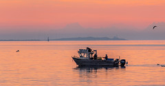 Seeker (Paul Rioux) Tags: morning sunrise dawn boat fishing fisherman marine bc waterfront outdoor britishcolumbia crab vessel victoria vancouverisland seeker daybreak juandefucastrait fishboat salishsea commercialfishing prioux