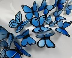 Corpse Bride Butterflies (Edible Delights) Tags: blue wedding cake butterflies corpsebride fondant gumpaste
