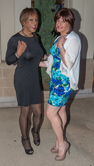 Kacey & Bree! (kaceycd) Tags: pumps highheels mesh s tgirl seethrough stilettoheels pantyhose crossdress spandex lycra tg stilettos seethru minidress sexypumps opentoepumps peeptoepumps anklestrappumps