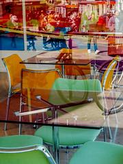 Empty Chairs & the City Sidewalk (bjg_snaps) Tags: city urban reflection london chairs empty sidewalk