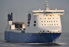 Stena Foreteller (Bernhard Fuchs) Tags: water car boat nikon ship ships cargoships vessel cargo elbe schiffe transporter cuxhaven cartransporter autotransporter frachtschiffe