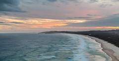 Tallow Beach from Cape Byron (russellstreet) Tags: sunset sun australia newsouthwales byronbay capebyron tallowbeach