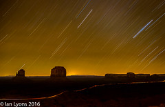 Star Trails, Monument Valley Navajo Tribal Park (IanLyons) Tags: nightphotography travel arizona usa awesome scenic northamerica startrails monumentvalleynavajotribalpark themittens merrickbutte eastmitten oljatomonumentvalley