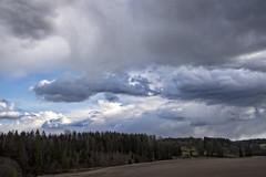 Local showers of hail (Ingunn Eriksen) Tags: sky field showers akershus vestby hlen