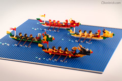 Dragon Boat Race (kosbrick) Tags: china city classic race vintage indonesia boat town dragon lego chinese newyear moc