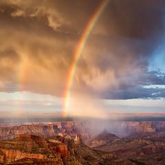 Roosevelt Rainbow (Kirk Lougheed) Tags: summer arizona sky usa cloud landscape nationalpark rainbow unitedstates outdoor grandcanyon canyon rim northrim grandcanyonnationalpark rooseveltpoint