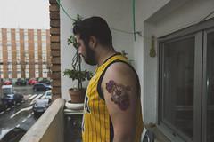 Tattoed. (Cris Martn) Tags: flowers espaa house flores art nature tattoo canon photography 50mm spain friend shoot expression explore experience shooting mm salamanca 50 pho rosas sho compass disparo tatuaje fot experiencia fotografa rosses expresin brjula tattoed 550d expresi