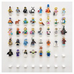 a few of my lego minifigures (winne pu) Tags: ikea diy starwars lego toystory ironman simpsons frame batman minifigures ribba ikearibba