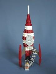 Rocket of the Golden Age (Czuwbaka) Tags: lego space scifi rocketpunk