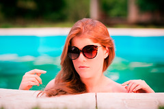 (Isai Alvarado) Tags: light sunset portrait woman sun sunlight cinema blur hot cute sexy film water pool girl smile grass garden hair movie model nikon focus dof bokeh stock longhair 85mm cine shades lips lovely perla cinematic alvarado softlight d800 isai fotografia isai