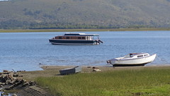 Boats in the Lagoon (Rckr88) Tags: ocean africa travel sea water river southafrica boats outdoors boat ship south ships lagoon estuary rivers knysna westerncape knysnaheads