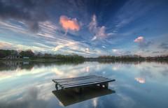 Carr Mill Dam (Jeffpmcdonald) Tags: uk reflection water clouds sthelens merseyside carrmilldam nikond7000 jeffpmcdonald april2016