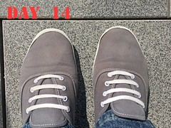 DAY 14 #keds (slo.jean) Tags: new old wet hole used worn torn 365 trashed keds