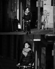 [La Mia Citt][Pedala] (Urca) Tags: portrait blackandwhite bw bike bicycle italia milano bn ciclista biancoenero mir bicicletta 2015 bwbw pedalare dittico nikondigitale ritrattostradale 822105