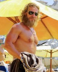 IMG_1251 (danimaniacs) Tags: shirtless hairy man hot sexy guy beach pecs beard muscle muscular beefy jewelry stud scruff mansolo