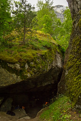 Hule Menn (Serious Andrew Wright) Tags: trees friends mountain norway rock moss cave lichen rauma overgrowth trolls romsdal andalsnes romsdalen