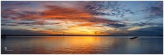Sunset over Brisbane (pbaddz) Tags: sunset water clouds australia queensland moretonbay wellingtonpoint